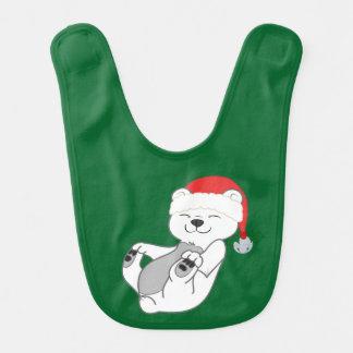 Sätta en klocka på den polara björnen för jul med hakklapp