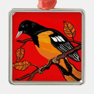 sätta en klocka på fågelkonst läste och svärtar julgransprydnad metall