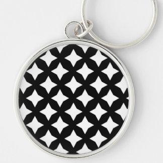 Sätta en klocka på kall blända fantastisk rund silverfärgad nyckelring