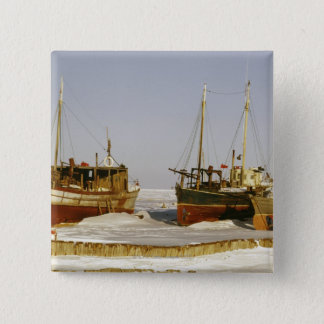 Satte på land gammalmodiga red ut fiskebåtar standard kanpp fyrkantig 5.1 cm