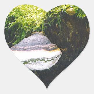 Saturn champinjoner hjärtformat klistermärke