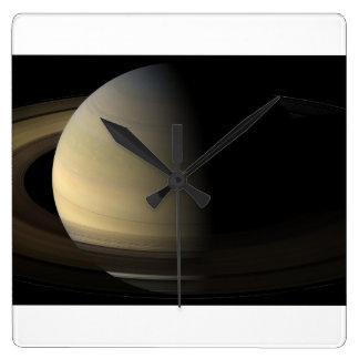 Saturn dagjämning fyrkantig klocka