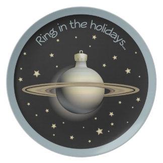 Saturn - ring i helgdagar tallrik