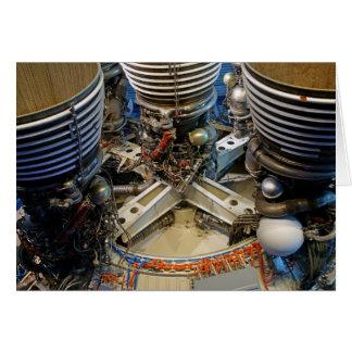 Saturn V motor Hälsningskort