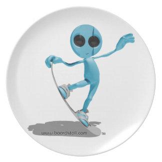 Saucer för Snowboardingblåttfrämling Tallrik
