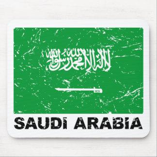 Saudia Arabien vintageflagga Musmatta