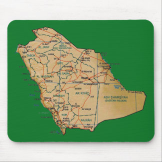 Saudiarabien karta Mousepad Musmatta