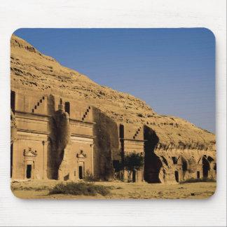 Saudiarabien plats av Madain Saleh, forntida 2 Musmattor