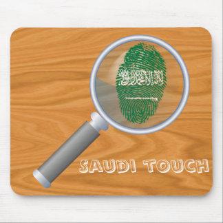 Saudierhandlag identifierar med fingeravtryck mus matta