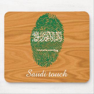 Saudierhandlag identifierar med fingeravtryck mus mattor