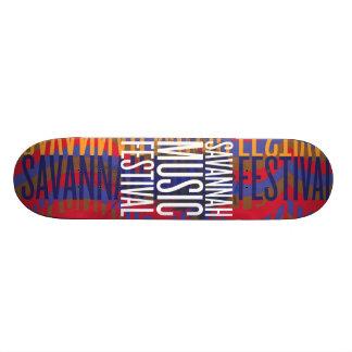 Savannahmusikfestival Skateboard Bräda 20 Cm