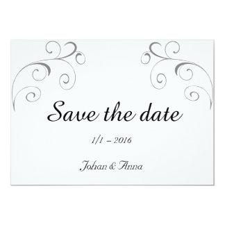 Save the date 12,7 x 17,8 cm inbjudningskort
