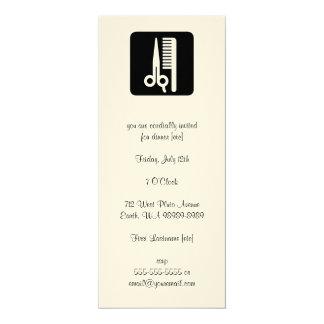 Sax och hårkamhåraffärer 10,2 x 23,5 cm inbjudningskort