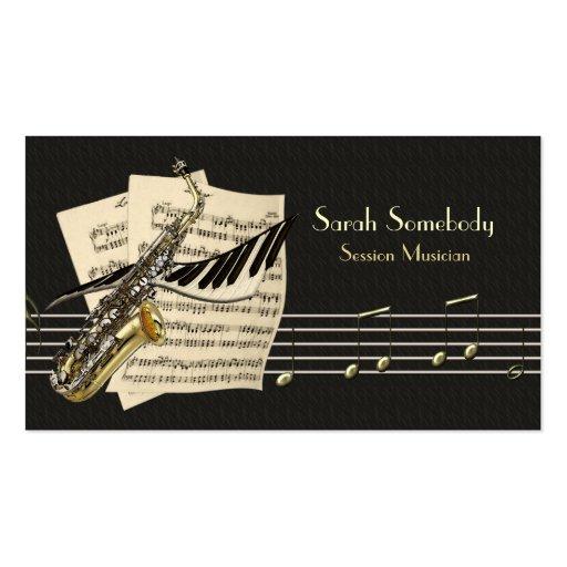 Saxofon- & pianomusik profilerar kortet visit kort