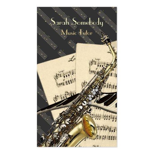 Saxofon- & pianomusikpersonlig visitkort