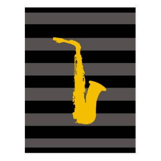 Saxofon Vykort