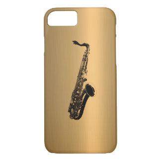 Saxofonen brons på förkopprar verkställer