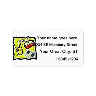 Saxsnaran och nycklar gulnar bakgrund adressetikett