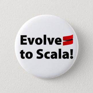 Scala knäppas, Evolve logotypen Standard Knapp Rund 5.7 Cm