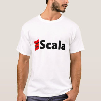 Scala skjorta, svart logotyp tee shirts