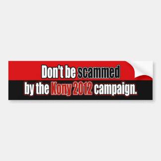Scammeds inte av den Kony bildekalet 2012 Bildekal
