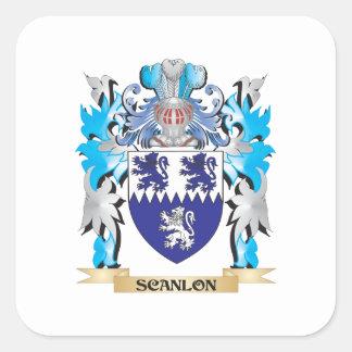 Scanlon vapensköld - familjvapensköld fyrkantigt klistermärke