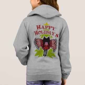 Scarf och svartkatt (glad helg) tee shirt