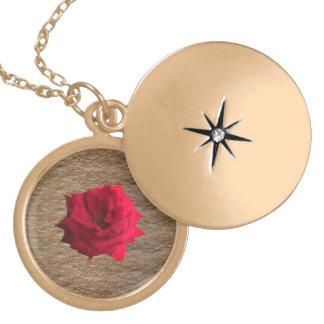 Scarlett rosa guld- glitter guldpläterat halsband