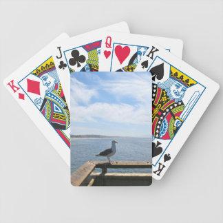 Scenisk fiskmås spelkort