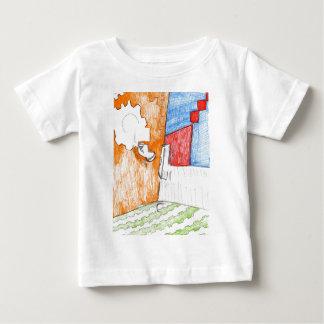 Scenisk herdabrev av mönster t-shirts