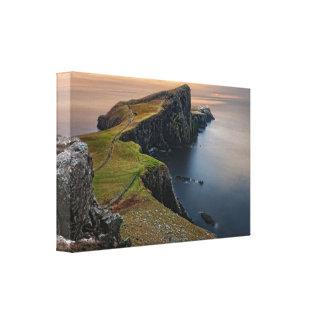 Scenisk sjölandskap från Skottland Canvastryck