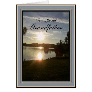 Scenisk solnedgång för fars dag - för farfar hälsningskort