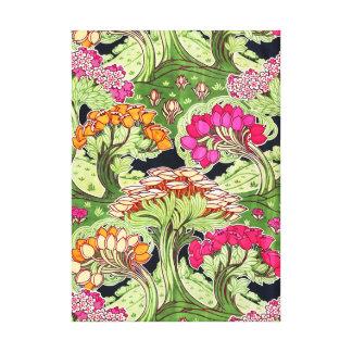 Scenisk Swirly blommaberlock landskap art nouveau Canvastryck