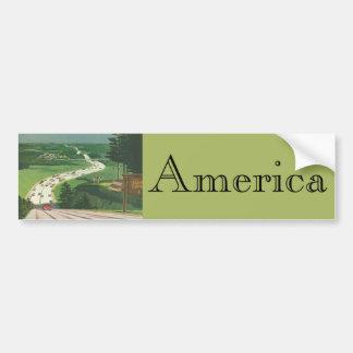 Sceniska amerikanhuvudvägar för vintage, bilvägres bildekaler