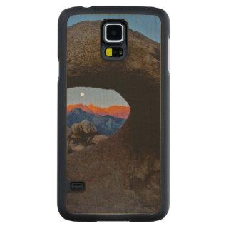 Sceniska de kura ihop sig Alabama backarna Carved Lönn Galaxy S5 Skal