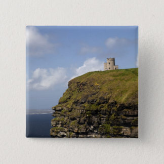 Sceniska klippor av Moher och O'Briens torn Standard Kanpp Fyrkantig 5.1 Cm