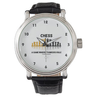 Schack en lek var tänkarear härskar armbandsur