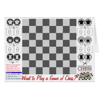 Schack modiga Papercraft Hälsningskort