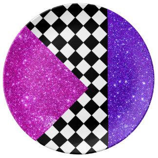 Schackbräde 9 för bordsservis för Sparkly Porslinstallrik