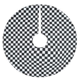SCHACKBRÄDE! (en svart- & vitdesign) ~ Julgransmatta Borstad Polyester