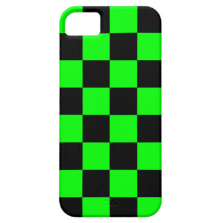 Schackbräde för neon för Corey tiger80-tal (grönt) iPhone 5 Case-Mate Fodraler