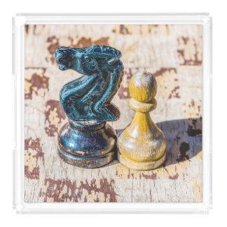 Schacket pantsätter och adlar - veteran bricka