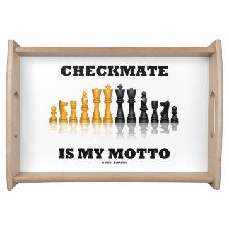 Schackmatt är min reflekterande schackuppsättning serveringsbricka