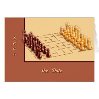 Schackuppsättning Hälsningskort