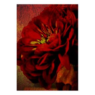 Scharlakansröd blomma visitkort