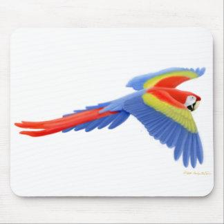 Scharlakansröd Macaw Mousepad Musmatta