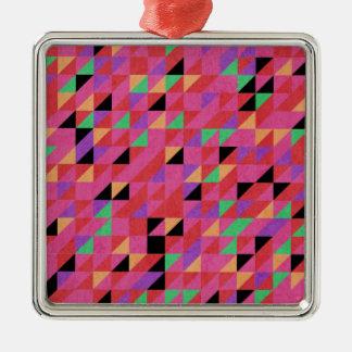 Scharlakansröda och Crimson trianglar Julgransprydnad Metall