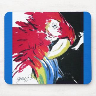 Scharlakansrött Macawporträtt Musmatta