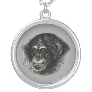 Schimpans Silverpläterat Halsband