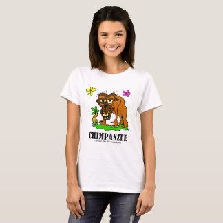 Schimpans vid Lorenzo kvinna T-tröja Tee Shirts